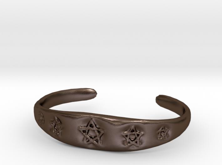Pentagram Cuff 3d printed