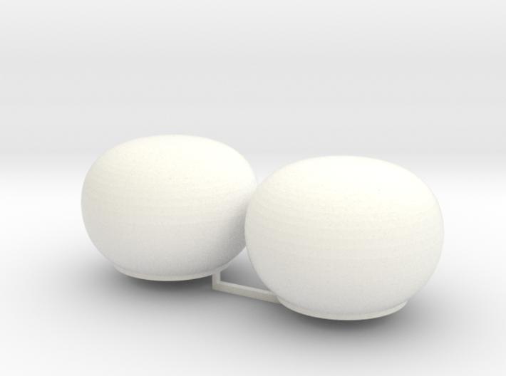2x Satcom Dome 1/100 3d printed