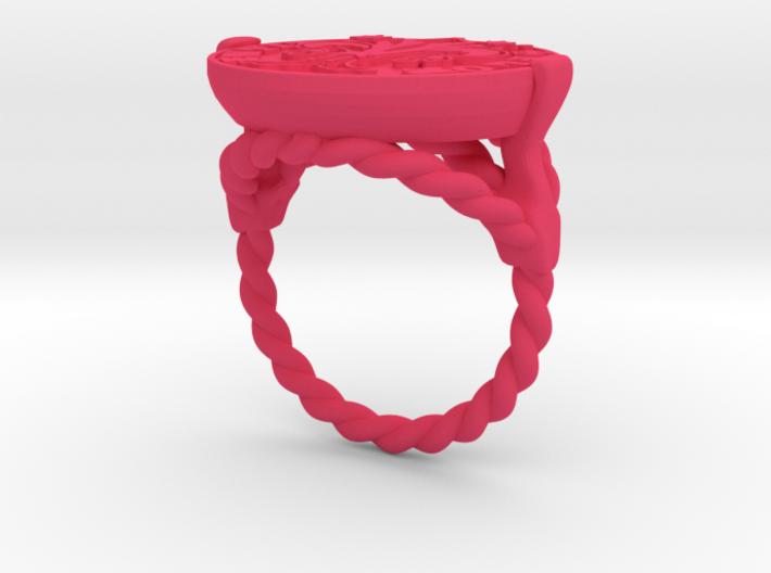 Anello Con Fiorino fiorentino 3d printed