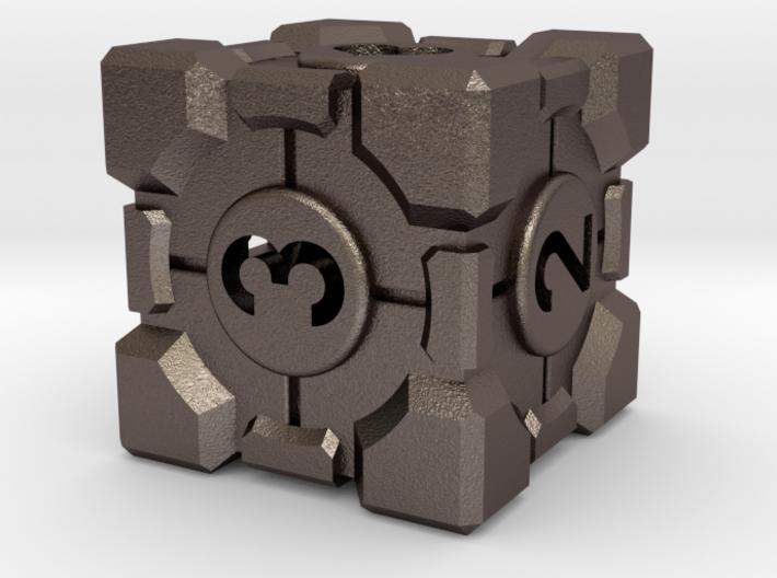 Companion Cube D6 - Portal Dice 3d printed