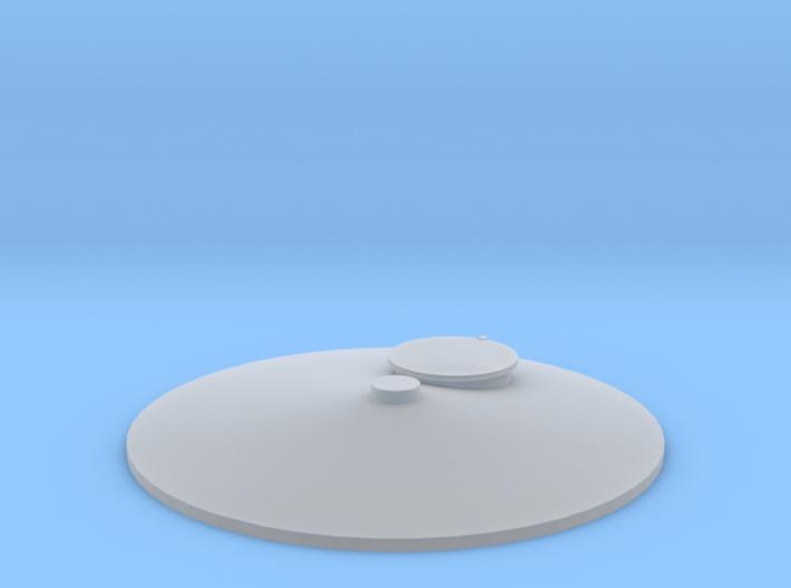 """'HO Scale' - Storage Tank Top - 1 1/4"""" PVC w/o Rai 3d printed"""