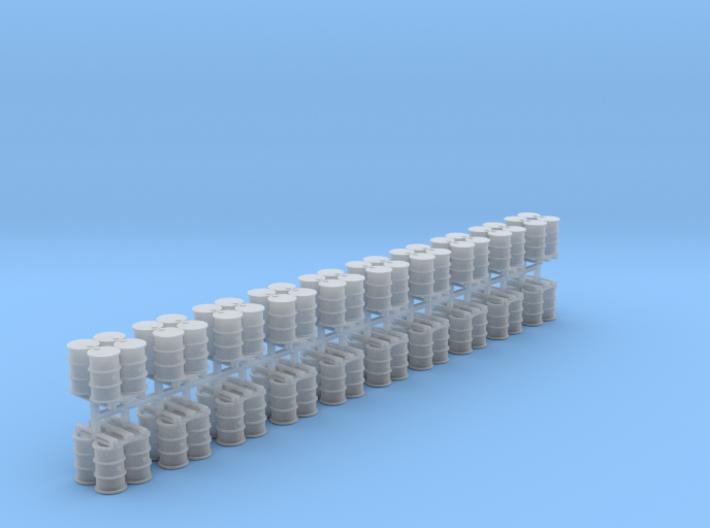 200 Liter 4 Fässer auf Europalette 20er Set - 1:87 3d printed