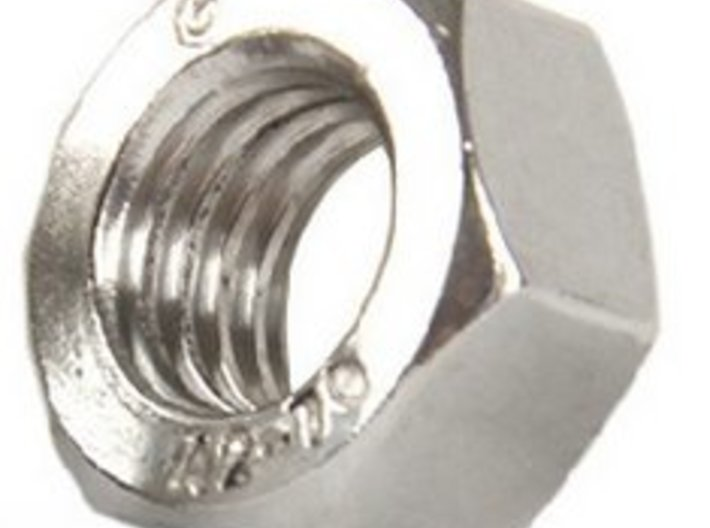 SCUBA - Carabiner Type - HP Hose Clip 3d printed  Stainless Steel M3 nut