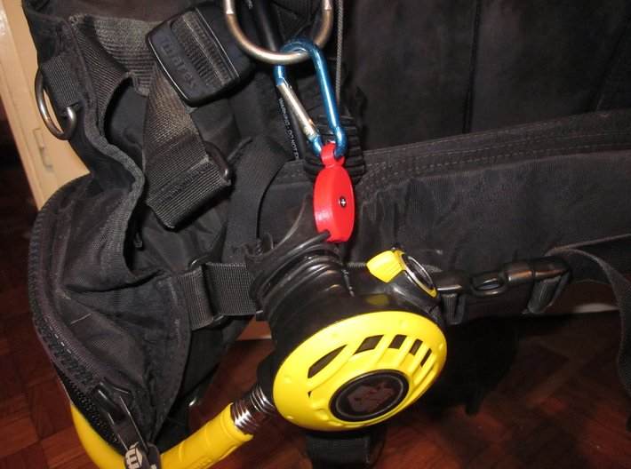 SCUBA - Carabiner Type - O-RING Octopus Holder 3d printed