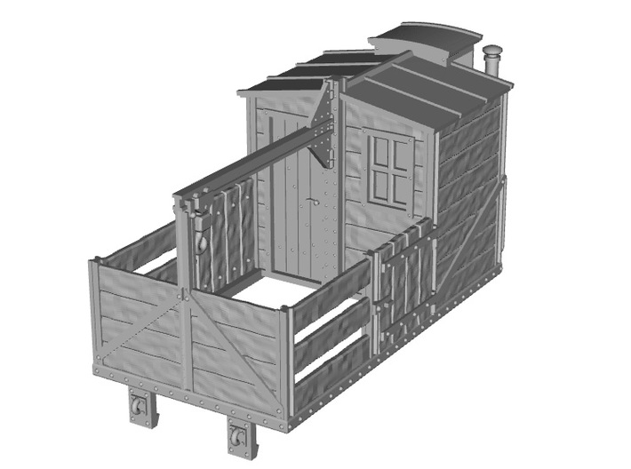 HOe-wagon07 - Crate of workshop wagon 3d printed