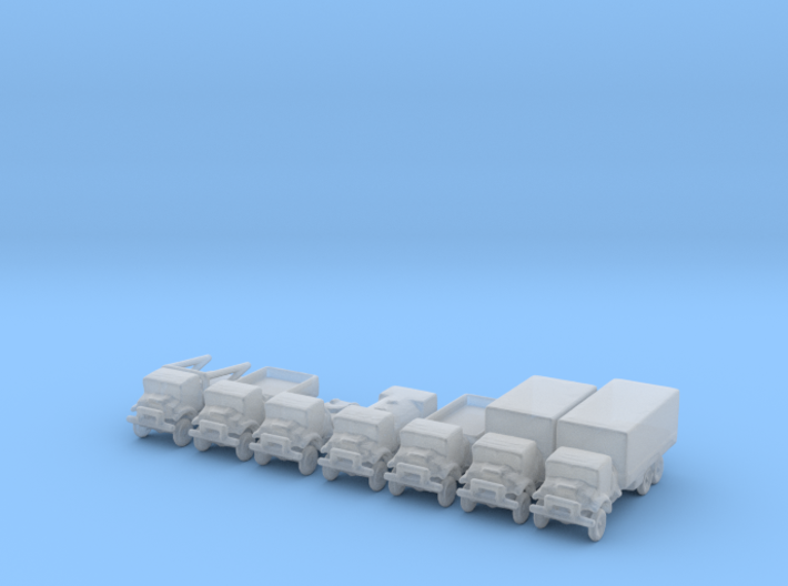 1/285 Scale C60 Canadian Truck Set Of 7 3d printed