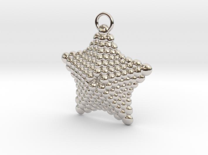 Sphere Starfish Pendant 3d printed