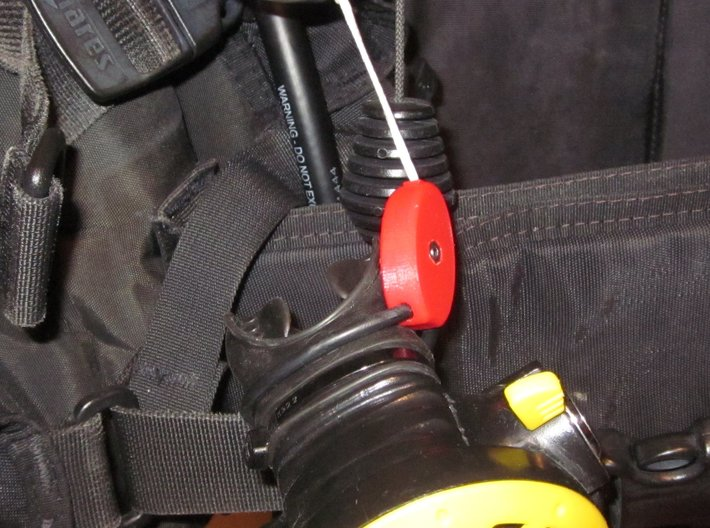 SCUBA - R. LP And HP Hose Clip And Octopus Holder 3d printed