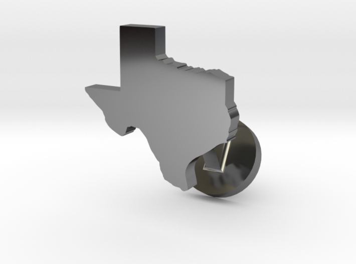 Texas Cufflink - Curved Bar 3d printed