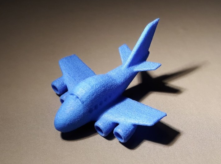 Funny Boeing 747 plane keychain 3d printed
