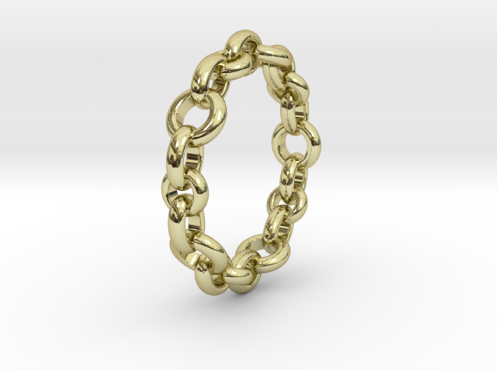 Signature Chain Ring 3d printed