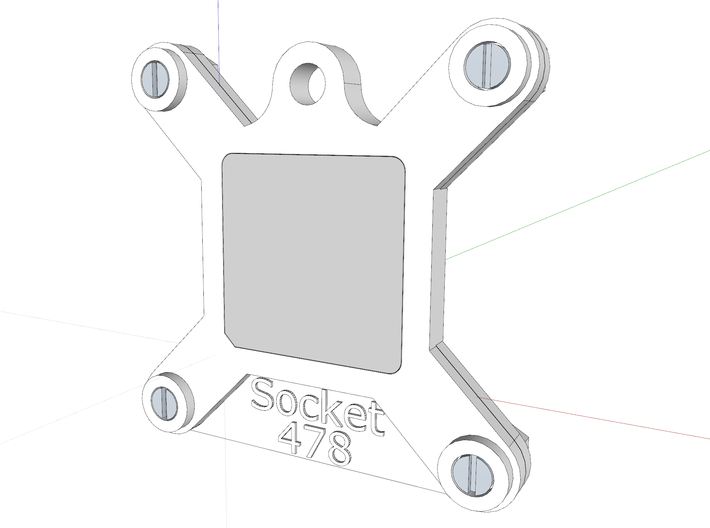 Socket 478 CPU Bauble 3-Pack - (repaired) 3d printed The assembly, as viewed in Sketchup.