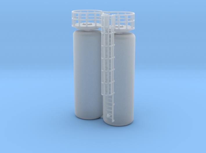 N Scale GRP Tank 2x 3d printed
