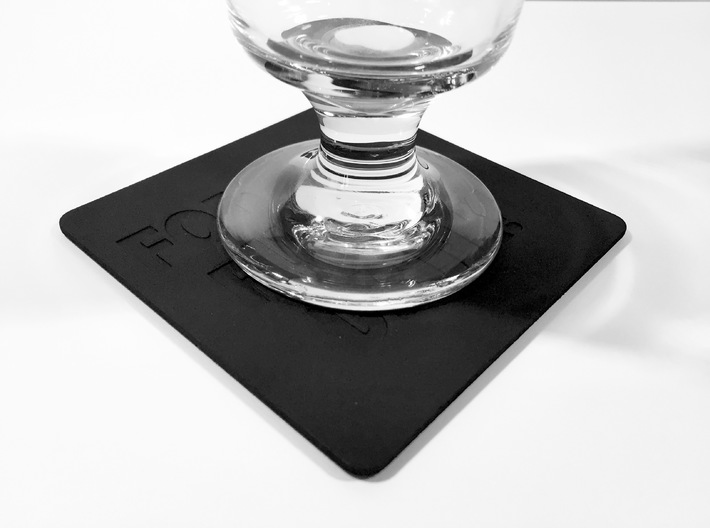 Effing Drink Coaster 3d printed Glass on coaster.