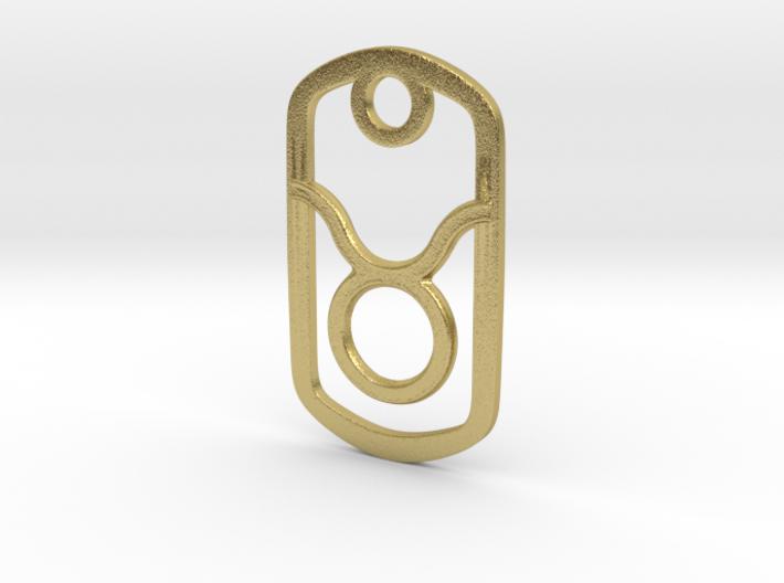 Taurus Pendant 3d printed