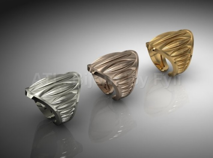Cocoa Pod Ring – Size 5 - 8 3d printed Multiple Options