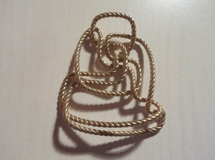 Thistlethwaite unknot (Rope) 3d printed