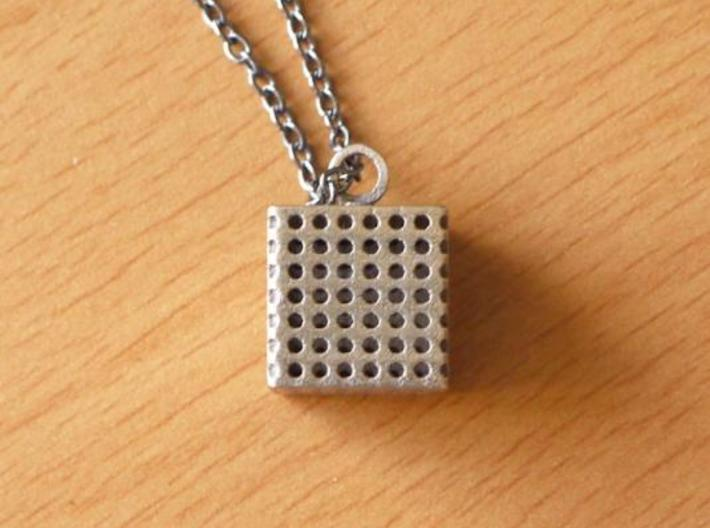Perforated Cube Pendant  3d printed Cube Pendant Cube