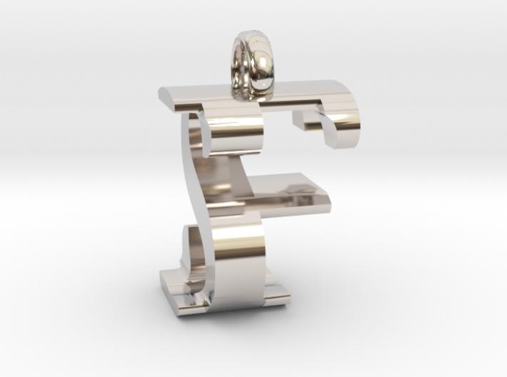 FS Monogram serifs [pendant] 3d printed