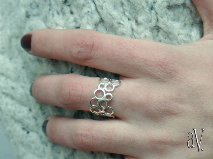 Scatter RoundRound Ring 3d printed