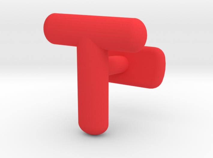 T Cufflink 3d printed