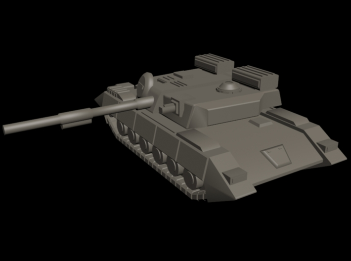 UEDF Main Battle Tank 02 3d printed 3DS Max quick render