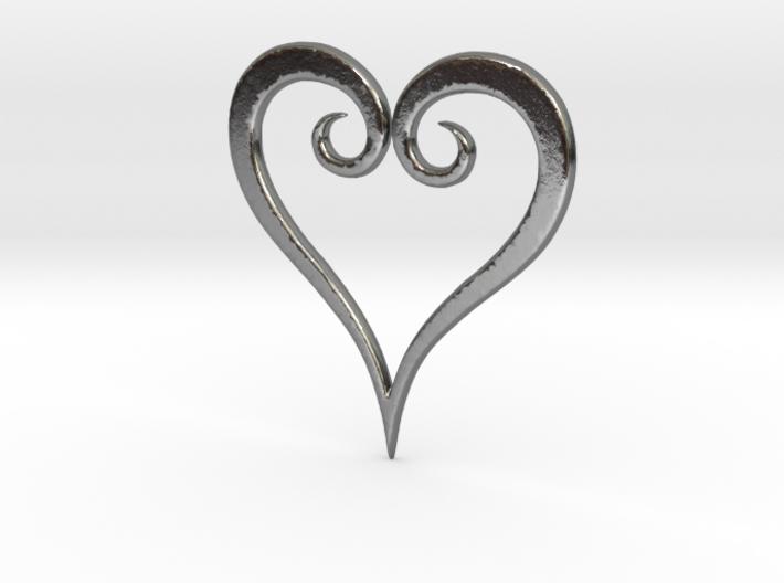 Minimalist Kingdom Hearts Pendant 3d printed