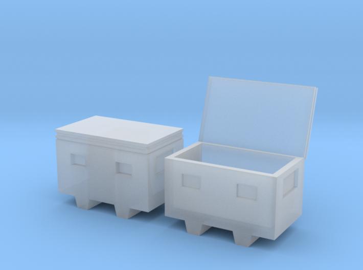 1/64 steel chest job box 3d printed