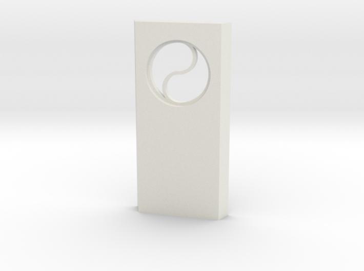 shkr024 - Teil 24 Seitenwand mit Fenster rund goti 3d printed