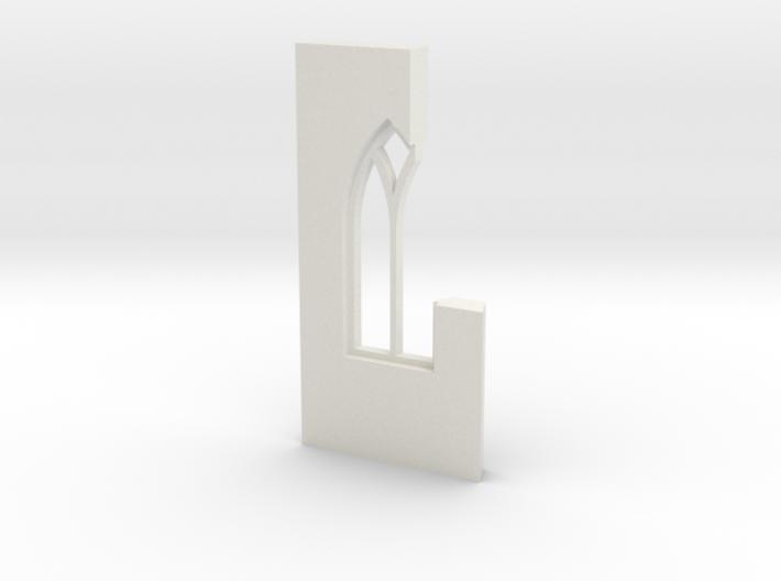 shkr040 - Teil 40 Seitenwand mit Fenster1-2 abgebr 3d printed