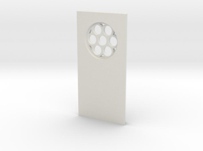 shkr036 - Teil 36 Seitenwand mit Fenster rund goti 3d printed