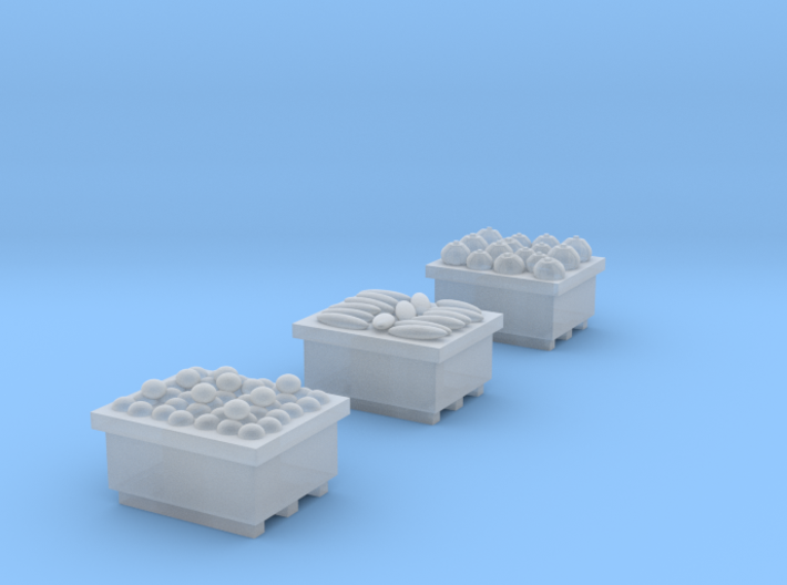 Produce Bins Full of Produce N Scale 3d printed
