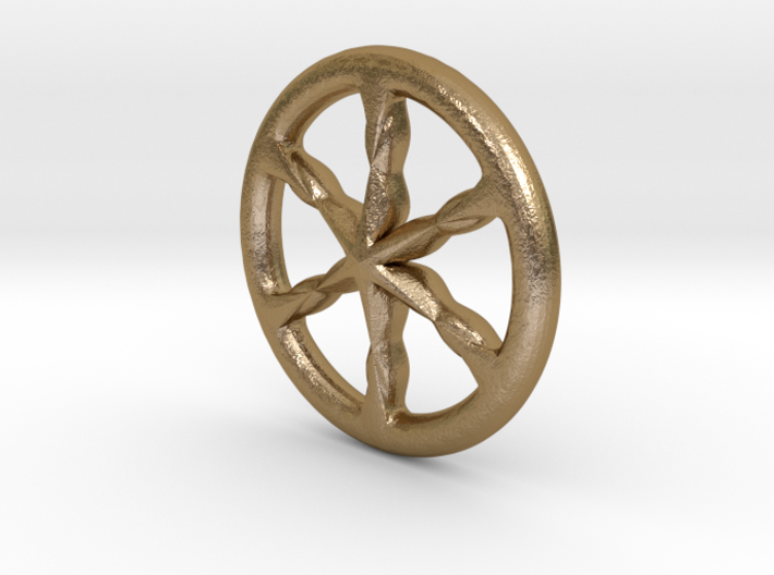 Ancient celtic wheel charioteer's pendant v02 3d printed