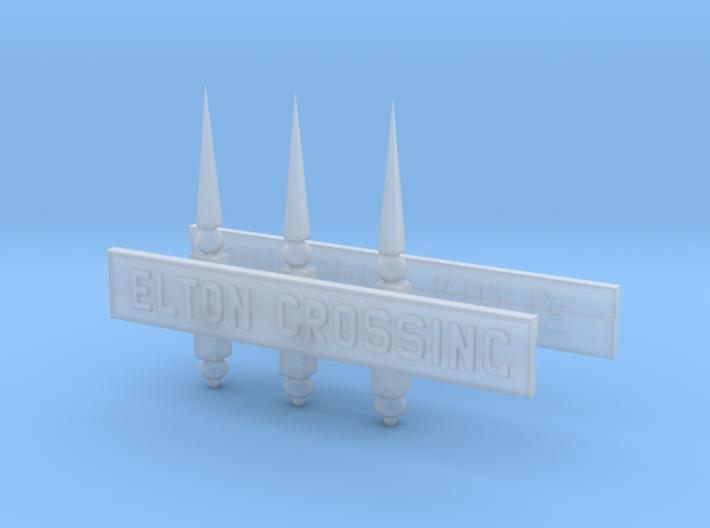 EL71B Nameboards & Finials 3d printed
