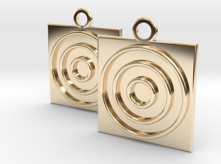 square circle earrings 3d printed