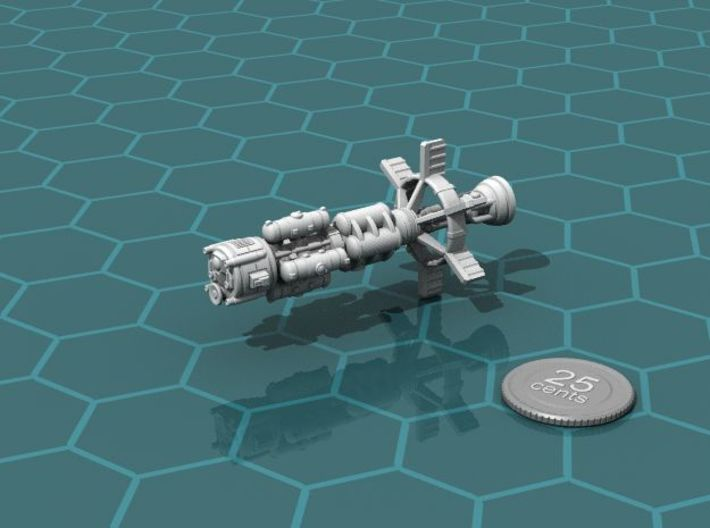 4 Fuel Pods 3d printed Fuel pods loaded on the Earther Gunboat Carrier