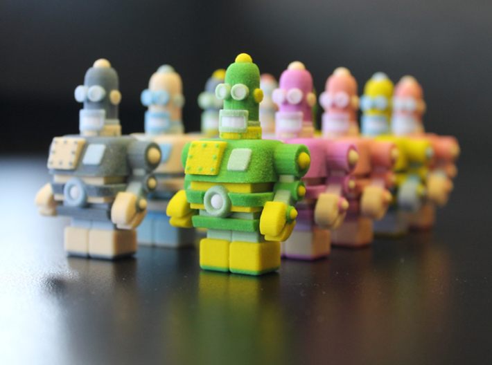 USB Robot's Army 3d printed the most colorful army