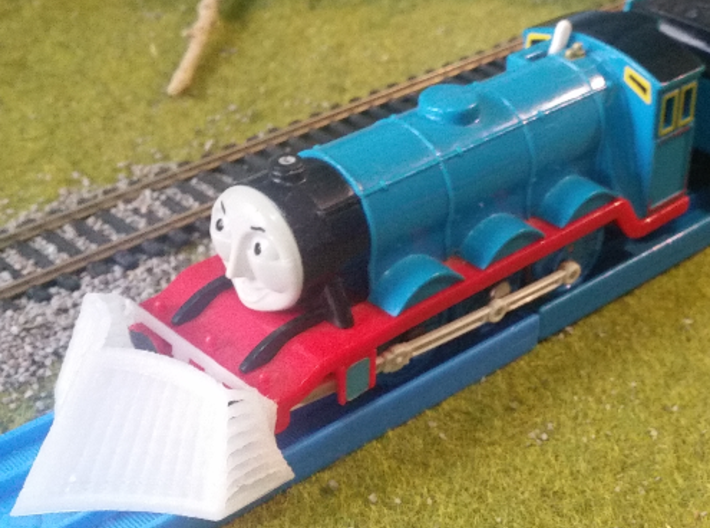 Tomy / Trackmaster Snowplough Type 1 Size 7 3d printed Test print - notice bufferbeam slotter