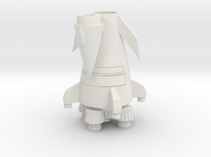 Flying Larger Rocket (Middle Size) 3d printed