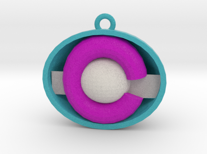 Colorado ornament purple/light blue 3d printed