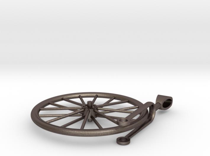 Bicycle Wheel Spinner Pendant 3d printed