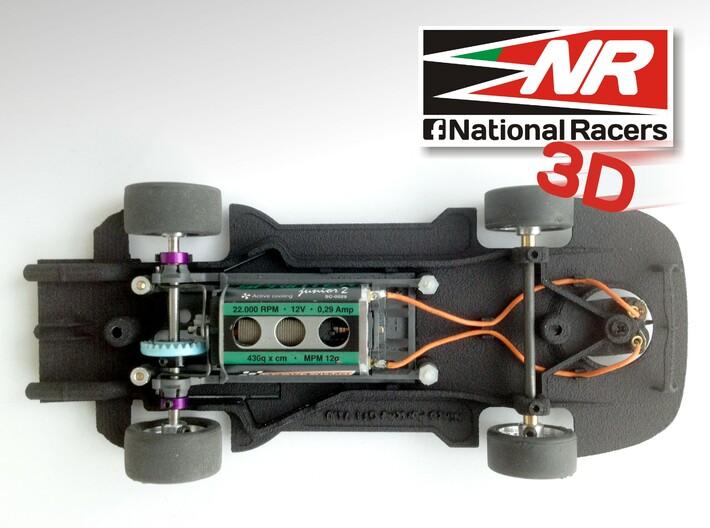3D Chassis - Ninco Porsche 911 GT1 (Combo) 3d printed