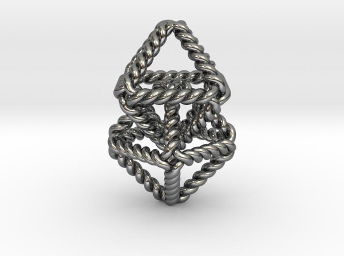 Interlocking Twisted Octahedrons 3d printed