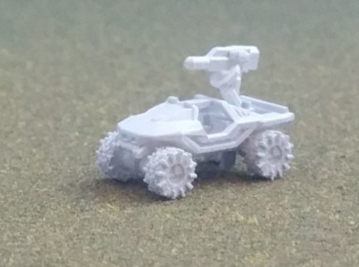 All-Terrain Vehicle with weapons 3d printed