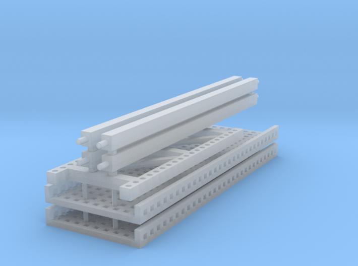 1/64 2 high 12ft PR mesh Extension 3d printed