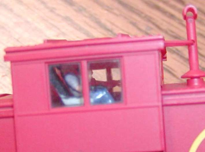 Atlas Wide Vision Caboose Cupola Interior Shrt 3d printed painted WSF