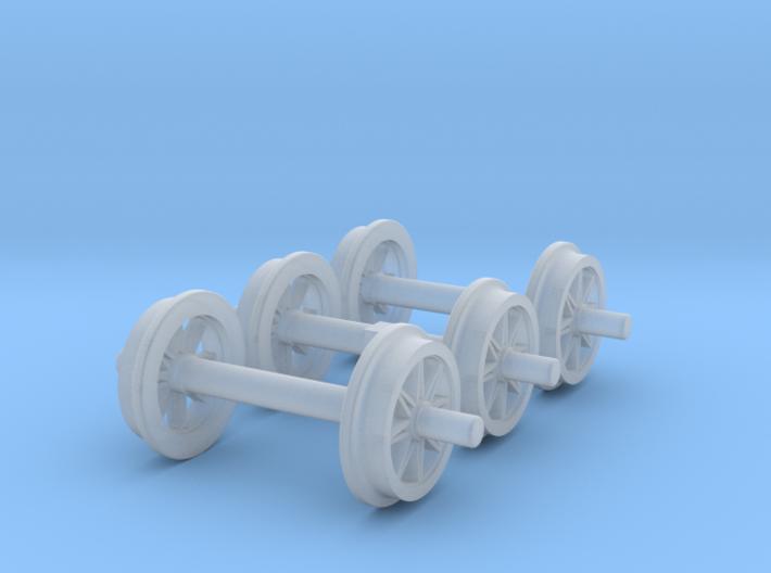 0m wheels - open spokes - Ore 3d printed
