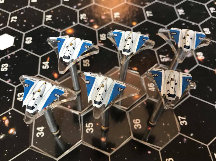 """Omni Scale Federation A-20 """"Avenger"""" Fighters MGL 3d printed Fighters painted by a fan. Stands not included."""