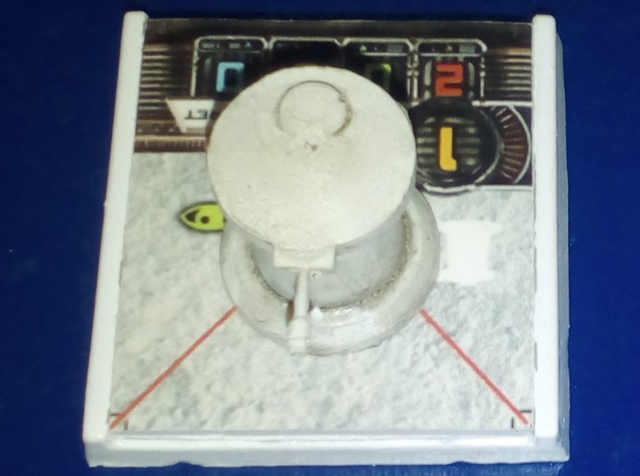 1/285th scale Laser turret (2 pieces) 3d printed