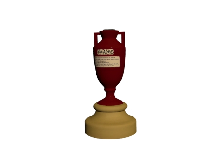Cricket Ashes Cup 3d printed rendered image of ashes cup
